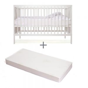 lit évolutif Mokee blanc avec matelas